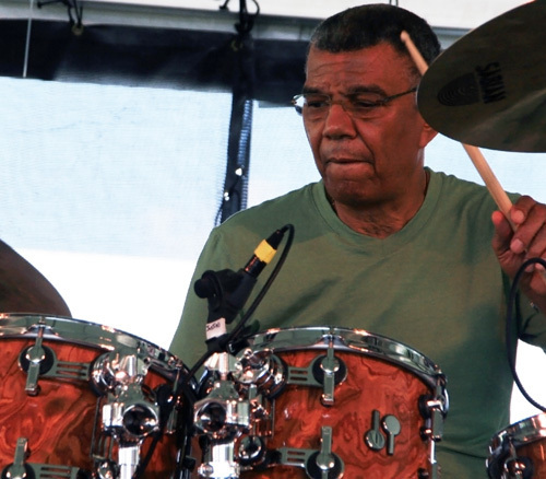 Jack DeJohnette performed with his own band and an all-star septet at the 2012 Newport Jazz Festival