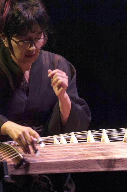 Miya Masaoka in performance at the 2012 Guelph Jazz Festival
