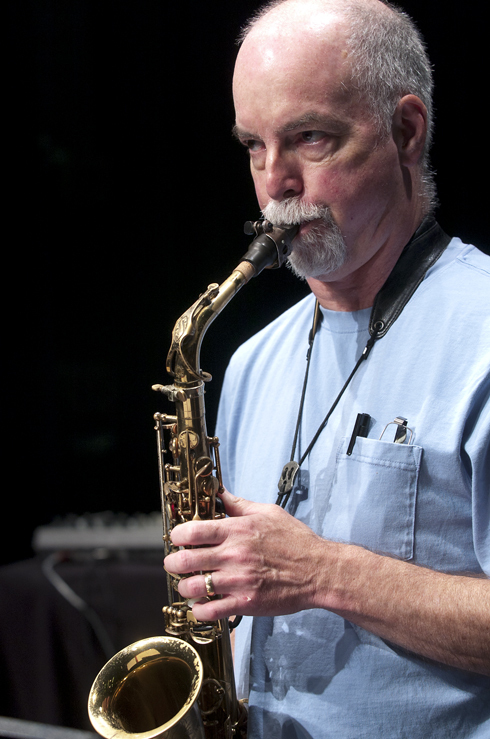 Steve Adams in performance at the 2012 Guelph Jazz Festival