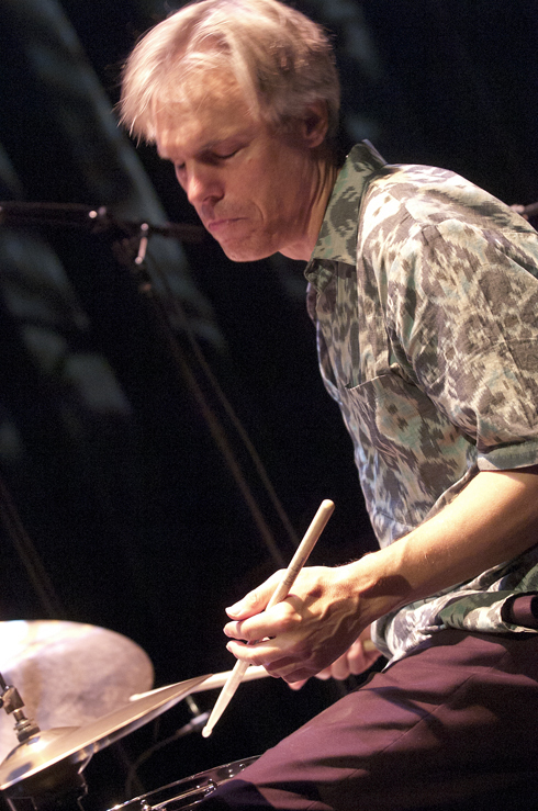 Gerry Hemingway in performance at the 2012 Guelph Jazz Festival