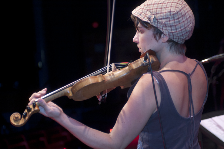 Carla Kihlstedt in performance at the 2012 Guelph Jazz Festival