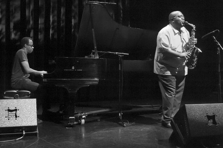 Darius Jones & Matthew Shipp in performance at the 2012 Guelph Jazz Festival