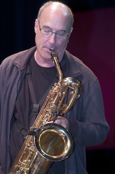 Jon Raskin in performance at the 2012 Guelph Jazz Festival