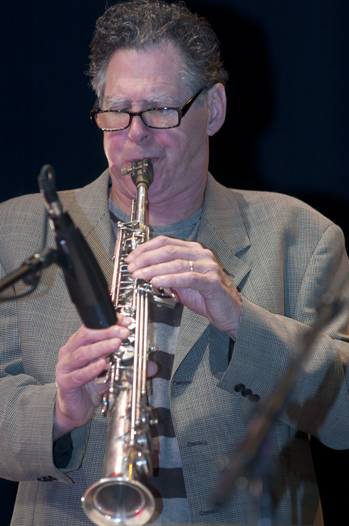 Bruce Ackley in performance at the 2012 Guelph Jazz Festival