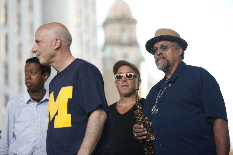 Lawrence Fields, Joey Baron, Dave Douglas and Joe Lovano at 2012 Detroit Jazz Festival