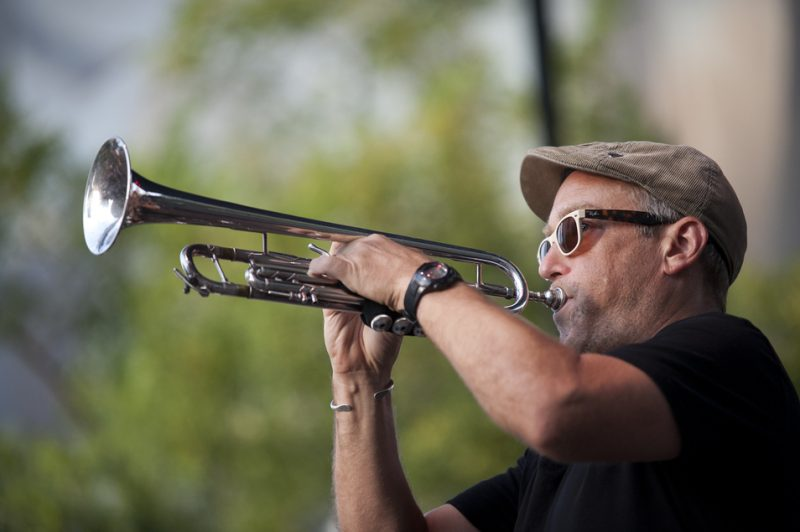 Dave Douglas in performance with Soundprints at 2012 Detroit Jazz Festival