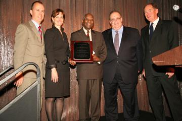 Muhal Richard Abrams (center) receives BNY Mellon Jazz 2012 Living Legacy Award