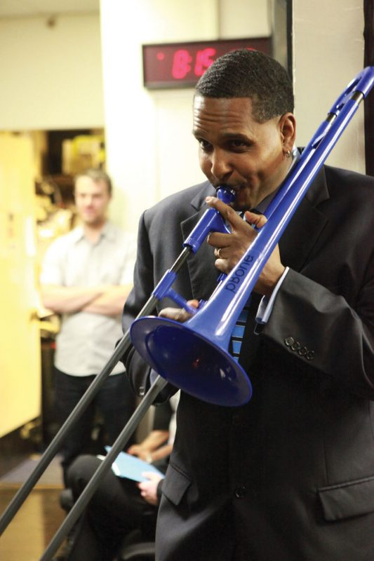 Vincent Gardner, trombonist and Swing University instructor