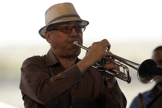 Brian Lynch performing with Eddie Palmieri at the 2011 Newport Jazz Festival image 0