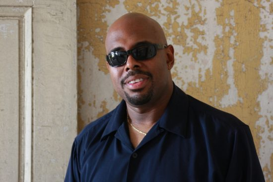 Christian McBride, backstage at the 2012 Newport Jazz Festival image 0