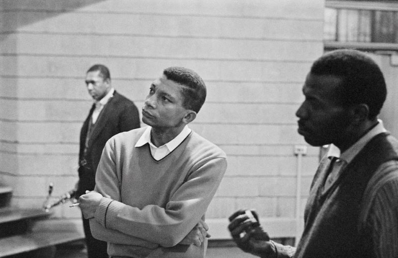 John Coltrane, Johnny Hartman and Elvin Jones in 1963