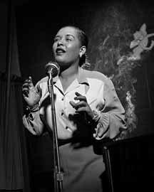 Billie Holiday photo by Herman Leonard