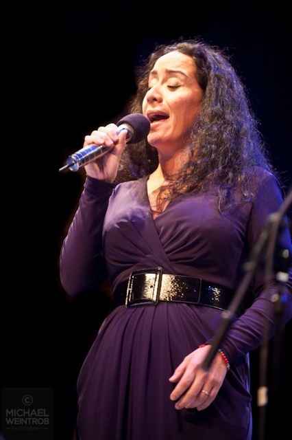 Claudia Acuna, Jazz for Obama concert, NYC, 10-12