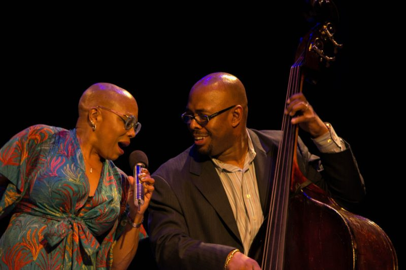 Dee Dee Bridgewater and Christian McBride, Jazz For Obama concert, NYC, 9-12