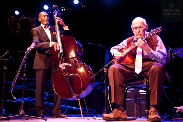 Ron Carter and Jim Hall, Jazz for Obama concert, NYC, 10-12