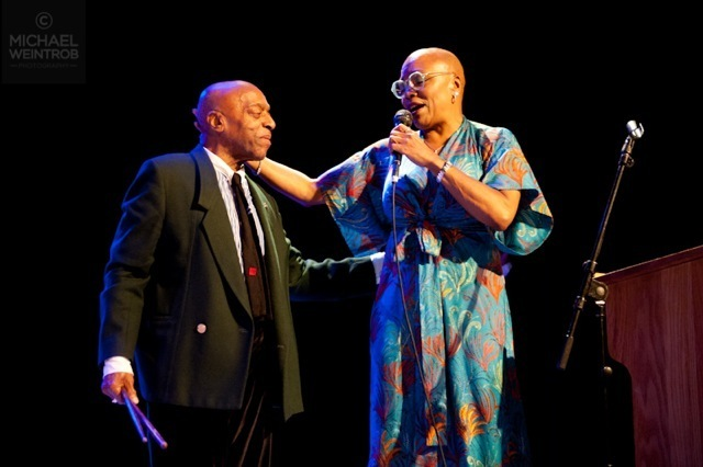 Roy Haynes and Dee Dee Bridgewater, Jazz for Obama concert, NYC, 10-12