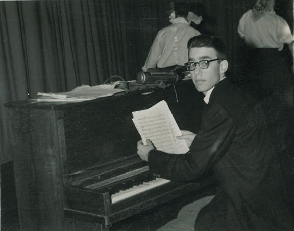 Steve Kuhn in high school, 1955