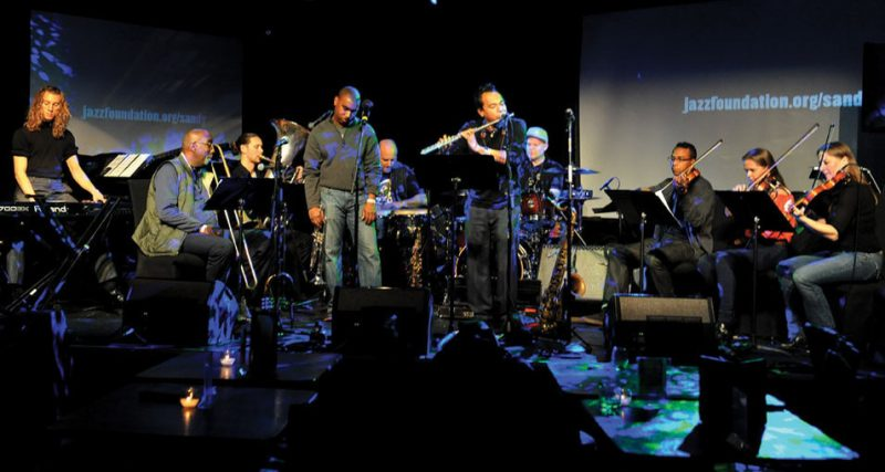 Jay Rodriguez (on flute) and the Soul System Orchestra at Le Poisson Rouge in November 2012