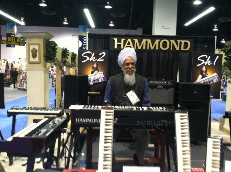 Dr. Lonnie Smith behind Hammond's SK2 combo organ at Winter NAMM 2012