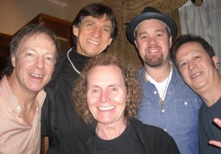 Russ Davis with members of Soul Grass