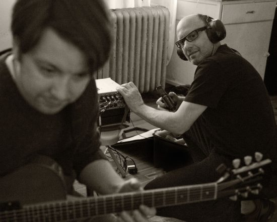Jimmy Katz and Lage Lund during a remote session in Brooklyn image 0
