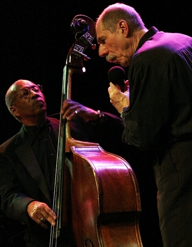 "Giacomo Gates and John Lamb's bass-whistling interplay on ""Summertime"" at the 33rd annual Sarasota Jazz Festival, 3-13"