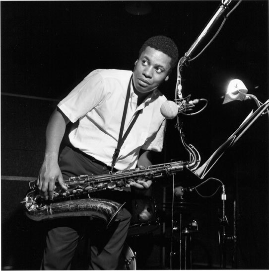 Wayne Shorter during the 'JuJu' session, August 1964