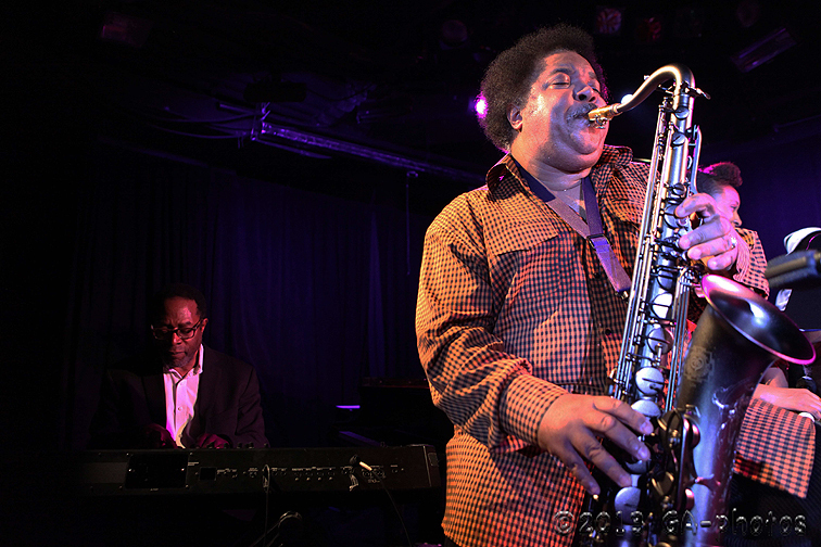 Brian Jackson (keys) and Ron Holloway (sax) pay tribute to Gil Scott-Heron at Le Poisson Rouge, NYC Winter Jazzfest 2013