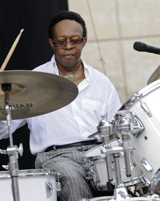 Louis Hayes performing at the 2012 Detroit Jazz Festival