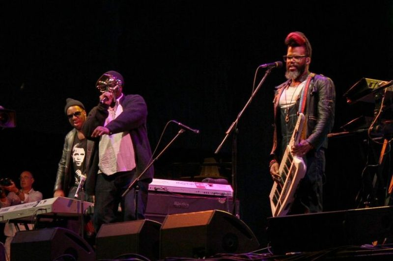 Robert Glasper, MF DOOM and Casey Benjamin (from left), 2013 Cape Town International Jazz Festival