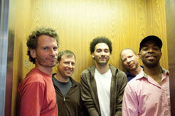 Larry Grenadier, Chris Potter, David Virelles, Eric Harland during sessions for Potter's 'The Sirens' in 2011