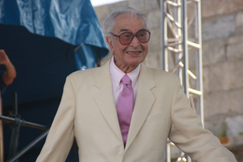 Dave Brubeck performing with Wynton Marsalis at CareFusion Newport Jazz Festival 2010