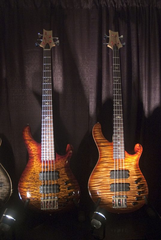 Production-line Gary Grainger signature 4- and 5-string basses by PRS Guitars, Winter NAMM 2013