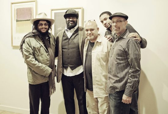 l. to r.: Don Was (Blue Note President), Gregory Porter, Brian Bacchus (producer), Pascal Bod (product manager, Universal Music Classics & Jazz), Kamau Kenyatta (associate producer) image 0