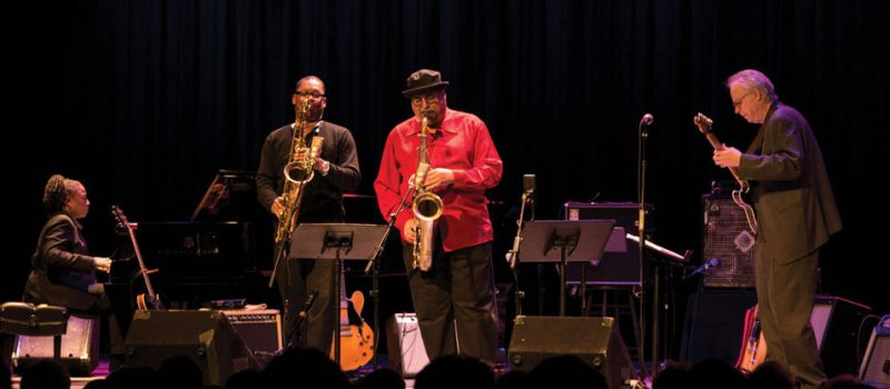 Geri Allen, Ravi Coltrane, Joe Lovano and Bill Frisell, Paul Motian tribute concert at Symphony Space, NYC, March 2013