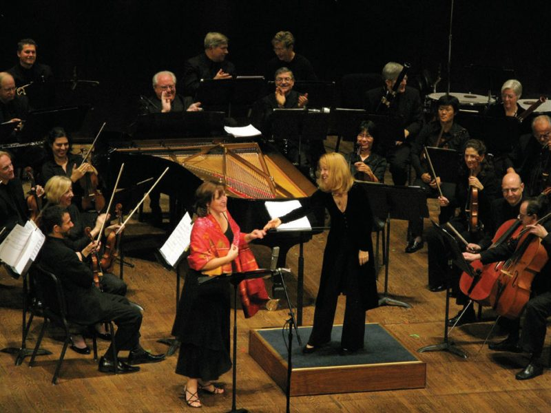Dawn Upshaw and Maria Schneider & the St. Paul Chamber Orchestra at the 2008 premiere of the Carlos suite