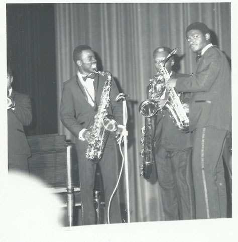 """Maceo Parker, St. Clair Pinckney and Alfred """"Pee Wee"""" Ellis (from left) in 1967"""