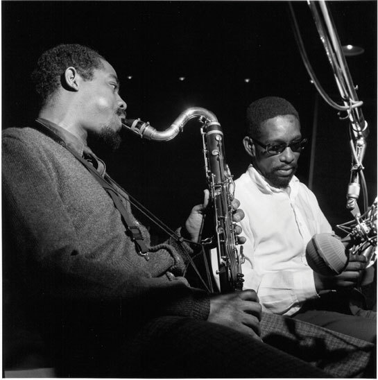 Eric Dolphy (left) and Kenny Dorham, March 1964