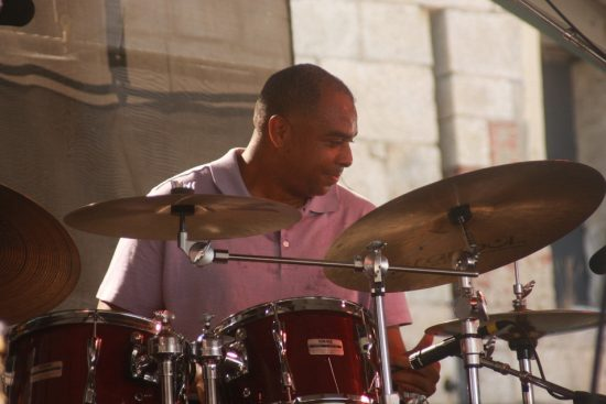 Dion Parson performing with Jon Faddis at CareFusion Newport Jazz Festival 2010 image 0