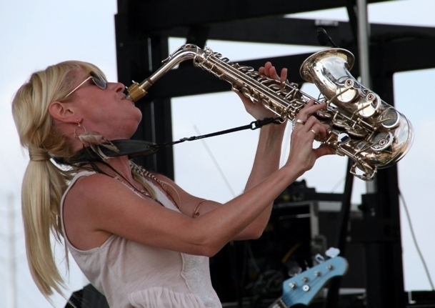 Saxophonist Mindi Abair made her fourth consecutive appearance at the Punta Gorda Wine & Jazz Festival