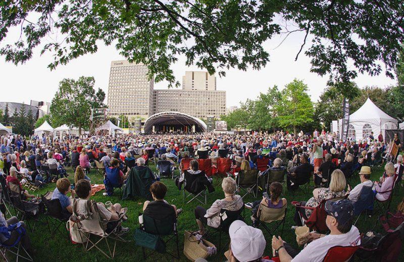 Confederation Park, the main venue at the TD Ottawa Jazz Festival, 2013