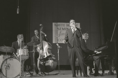 Tony Bennett and the Dave Brubeck Quartet at the White House 1962