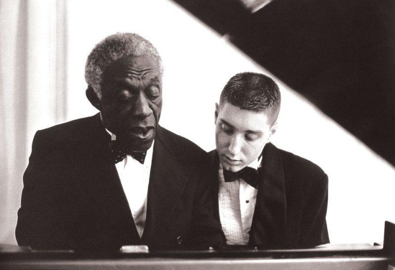 Benny Green (r.) with Art Blakey, 1988