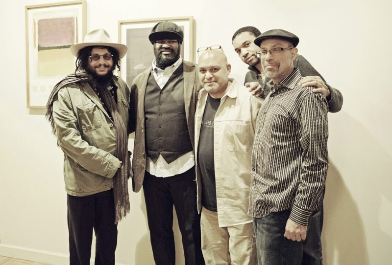 l. to r.: Don Was (Blue Note President), Gregory Porter, Brian Bacchus (producer), Pascal Bod (product manager, Universal Music Classics & Jazz), Kamau Kenyatta (associate producer)