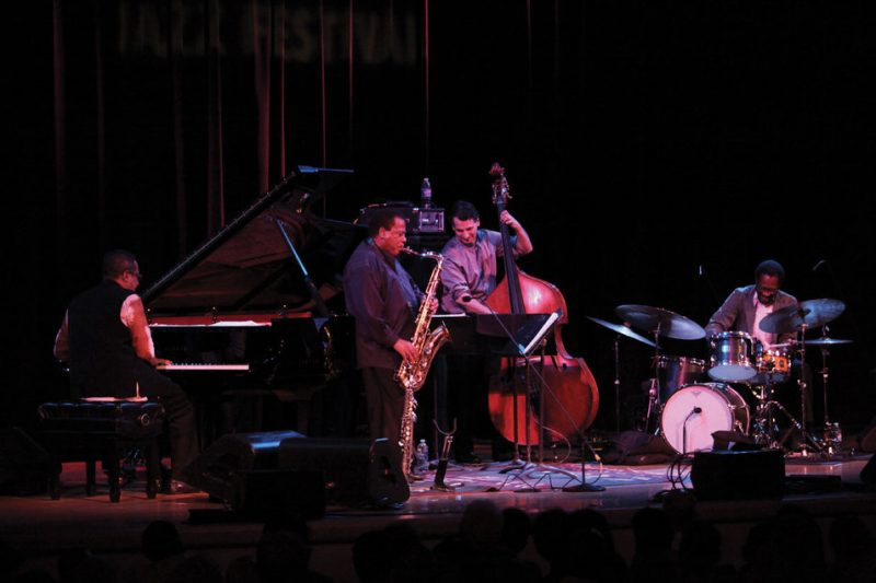 Danilo Perez, Wayne Shorter, John Patitucci and Brian Blade (from left) at Town Hall, NYC, June 2013