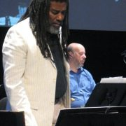 Wadada Leo Smith and Larry Kaplan in performance ofTen Freedom Summers in October 2011 image 0
