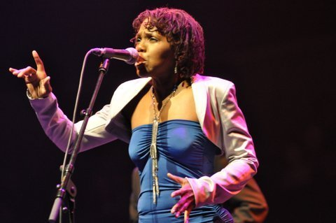 Carleen Anderson in performance at the 2013 London Jazz Festival