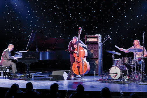 The Bad Plus at the Triple Door in Seattle, October 2013. l. to r.: Ethan Iverson, Reid Anderson and Dave King