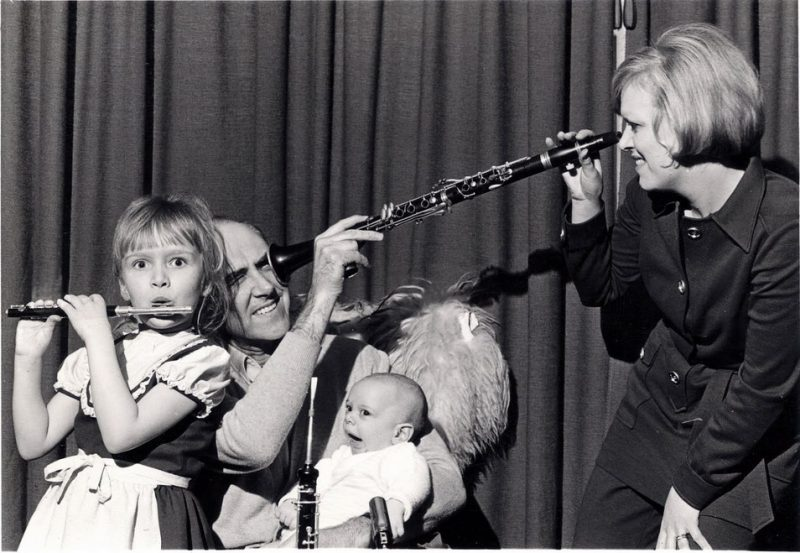 Herb Geller and family in 1970. Photo courtesy of the artist