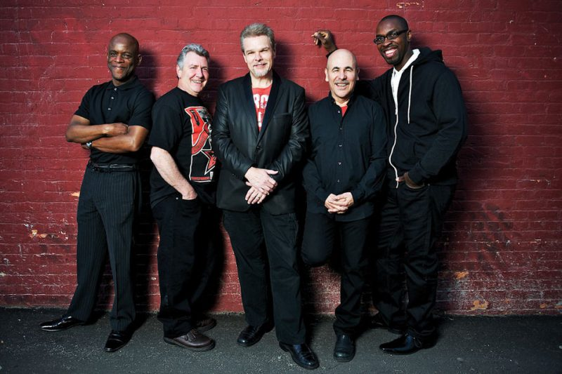 Spyro Gyra, with cofounder and saxophonist Jay Beckenstein, 2nd from left, and 35-year keyboardist Tom Schuman at center